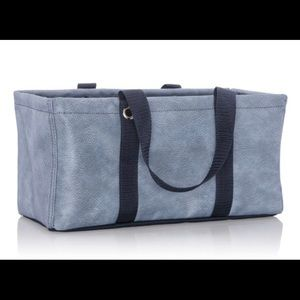 Tiny Utility Tote-Denim Distressed